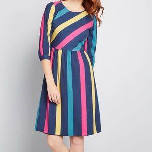 NWT MODCLOTH Striped and True dress retro